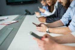 Smartphones en réunion